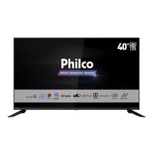 Smart TV LED 40'' PTV40G60SNBL FHD com Tela Infinita Audio Dolby Loja de Aplicativos e Processador Quadcore- Philco