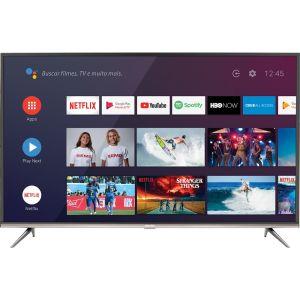 "Smart TV Led 50"" Semp SK8300 4K HDR Android Wi-Fi 3 HDMI 2 USB Controle Remoto Chromecast Integrado"
