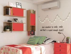 Nicho Decorativo 1 Porta Multi Buriti/Vermelho - Caemmun