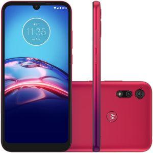 Smartphone Moto E6S 64GB Vermelho 4G Tela 6.1 Pol. Câmera 13MP Selfie 5MP Dual Chip Android 9.0 -Motorola