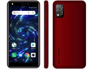 """Smartphone Positivo Twist 4 Fit, Vermelho, Tela de 5"""", 3G+Wi-Fi, Câm. Tras. de 8MP, Frontal de 5MP, 32GB"""