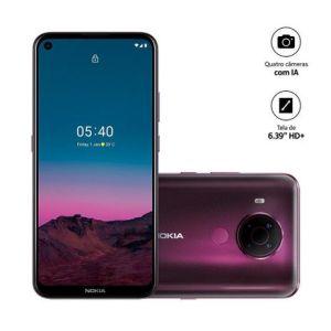 Smartphone  5.4 Core Tela 6,5 RAM 3GB Android Roxo -Nokia