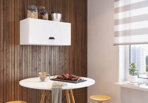 Armário para Cozinha Aéreo Retro 1 Porta MIA601 Branco -  Art In Móveis