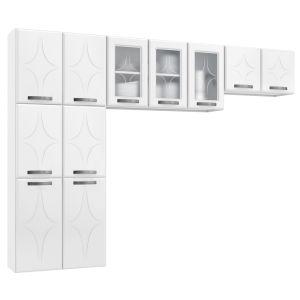 Cozinha Compacta Rubi 3 Portas com Vidro - Telasul
