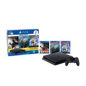 Console PS4 Slim 1TB + Controle Dualshock 4 + 3 Jogos + 3 meses PlayStation Plus (Bundle 18)
