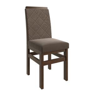 Cadeira FB19 Tabaco/Veludo Marrom-Zamarchi