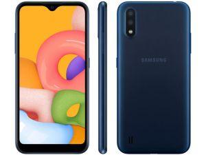 Smartphone Galaxy A01 32GB 4G Octa-Core 2GB RAM Tela 5,7 Azul - Samsung