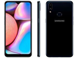 "Smartphone Galaxy A10s 32GB Preto 4G Tela 6.2"" Câm. Dupla 13MP Selfie 8MP  Android 9.0 -Samsung"