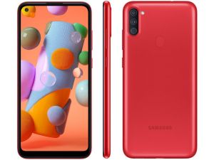 "Smartphone Galaxy A11 64GB Dual Chip Android 10 Tela 6.4"" Octa-Core 4G Câmera Tripla 13MP+5MP+2MP  Vermelho - Samsung"