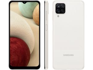 "Smartphone Galaxy A12 64GB Branco4G - Octa-Core 4GB RAM 6,5"" Câm. Quádrupla + Selfie 8MP Samsung"