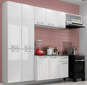 Cozinha Completa em Aço 3 Peças + Balcão Amanda Branco - Itatiaia