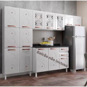 Cozinha em Aço Compacta 60  Mirage New 3 Peças  Branco - Telasul