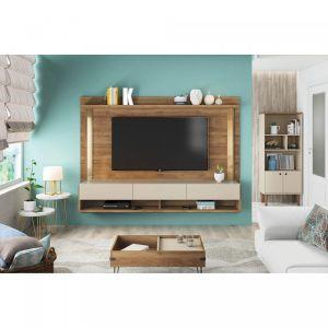Painel Home Suspenso para TV até 50 Polegadas com Suporte para TV Magnific 1.8 Buriti/Off White - Caemmun
