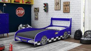 Cama Carro Rally Azul - Gelius