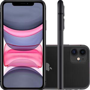 """iPhone 11 Preto, com Tela de 6,1"""", 4G, 128 GB e Câmera de 12 MP  - Apple"""