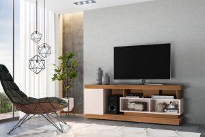 Rack Bancada para TV até 70 Pol. Tijuca Natura/Off White - Colibri