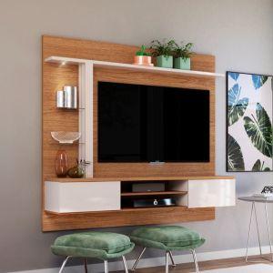 Home Suspenso Salinas 2 portas e LED Natura/ Off White- Colibri Móveis