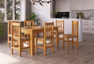 Mesa  de jantar  Joli 6 Cadeiras  Madeira / Xadrez -  Zamarchi