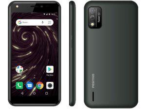 "Smartphone Twist S509 32GB Cinza 4G - Octa-Core 1GB RAM Tela 5"" Câm. 8MP + Selfie 5MP - Positivo"