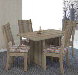 Mesa de Jantar Esmeralda 1,10 c/ 4 Cadeiras Castanho- Indekes