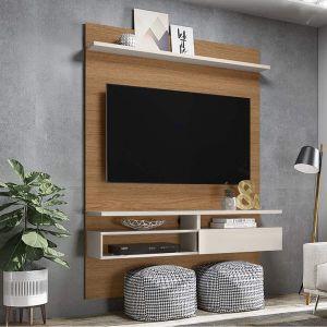 Painel para TV até 60 Polegadas Sírius Natura Real / Off White -Colibri