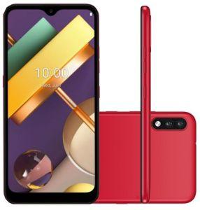 """Smartphone LG K22 32GB Dual Chip Android 10 Tela 6.2"""" Quad Core 4G Câmera 13MP+2MP - Vermelho"""