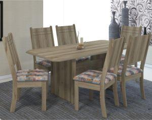 Mesa de Jantar Esmeralda 1,50 c/ 6 Cadeiras Castani- Indekes