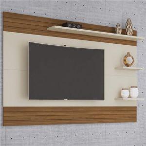 Painel Mirage para TVs até 72 Polegadas Off White/Freijó - Germai
