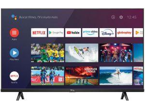 "Smart TV Led 32"" TCL S615 Preto, Android 1366x768 (HD), Usb, Hdmi, Wi-Fi, 60Hz"