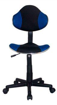 Cadeira para Escritório Anatômica QZY-G2B Preto com Azul -Best
