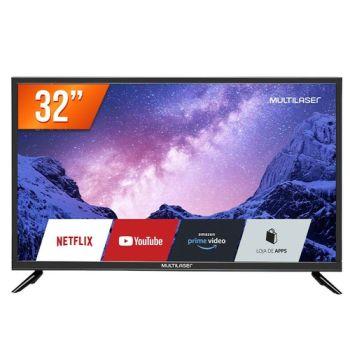 "Smart TV LED 32"" HD TL020 Conversor Digital Externo 3 HDMI 2 USB Wi-Fi- Multilaser"