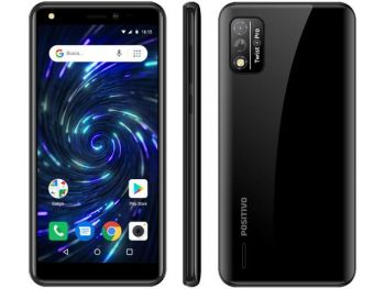 "Smartphone Twist 4, Preto, Tela de 5.5"", 3G+Wi-Fi, Câm. Tras. de 8MP, Frontal de 8MP, 64GB - Positivo"