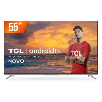 "Smart TV LED 55"" 4K Ultra HD TCL 55P715 3 HDMI 2 USB Android Wi-Fi Bluetooth"