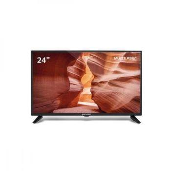 """TV 24"""" HD Entrada USB VGA+ Conversor Digital TL016 Preta- Multilaser"""