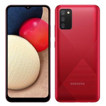 """Smartphone Samsung Galaxy A02S Vermelho, Tela 6.5"""", 4G+Wi-Fi, And. 10, Câm. Tras. de 13+2+2, Frontal de 5MP, 3GB RAM, 32GB"""