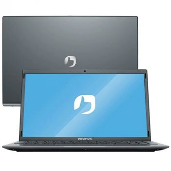 "Notebook Positivo Motion Q464C, Intel Atom, 4GB 64GB, 14.1"", W10 Home, Cinza"