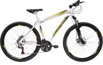 Bicicleta Aro 29 TB Niner, 21 Marchas, Freio a Disco, Aro Aero, Suspensão Dianteira, Branca - Track Bikes