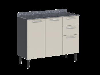 Balcão de Cozinha Aço Midi Pop Art i2 - 3Pts 2Gvt - Itatiaia
