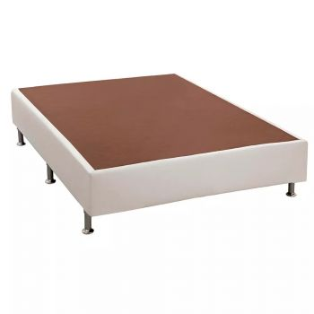 Base p/ Cama Box Courino Branco 138x188x23 - Ortobom