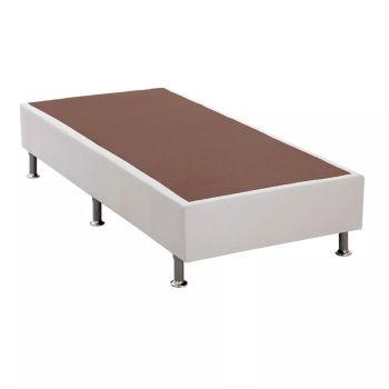 Base p/ Cama Box Courino Branco 88X188X24- Ortobom