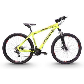 Bicicleta TKS 29 Aro 29 21 Marchas Mountain Bike Verde Neon Track Bikes
