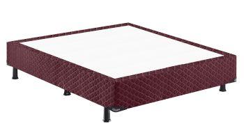 Base p/ Cama Box Vangog 138x188x26- Poliéster Vinho - Hellen