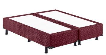 Base p/ Cama Box Queen size Vangog Poliéster Vinho 158x198x26 - Hellen