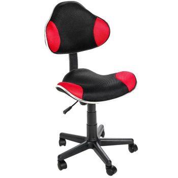 Cadeira para Escritório Anatômica QZY-G2B Preto com Vermelho -Best