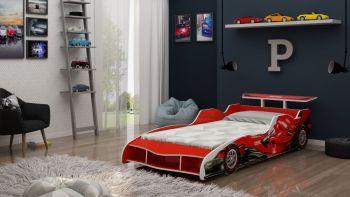 Cama F1 90 x 190 Vermelha - Gelius
