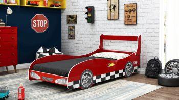 Cama Carro Rally Vermelho - Gelius