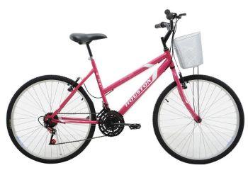 Bicicleta Houston Foxer Maori Aro 26 Alumínio Rosa 18 Marchas