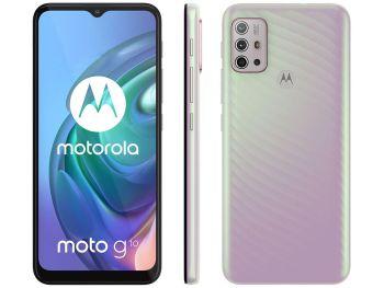 "Smartphone Moto G10 6.5"" Octa Core 64GB 4GB Câmera quádrupla Branco Quadriband - Motorola"