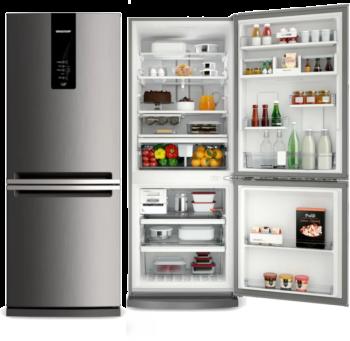 Geladeira Refrigerador Frost Free 443 litros - BRE57 Inox -Brastemp
