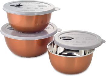 Jogo 3 Potes para Micro-ondas de Inox com Poliestireno -Mimo Style